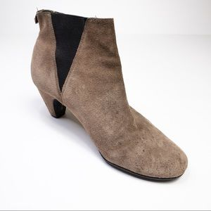 Sam Edelman Taupe Suede Heeled Booties